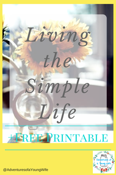 Living the Simple Life to Promote Wellness + FREE Printable Daily/Weekly Cleaning Schedule